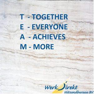 Team, mooie werk quotes