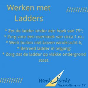 veilig werken met ladder